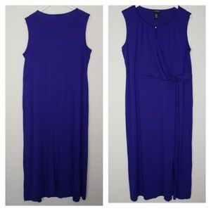 Catherine's Any Wear Jersey Knit Blue Maxi Dress